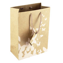 Kraft Paper Medium Gift Tote Bags - 4.75 X 6.75 - Box Of 100