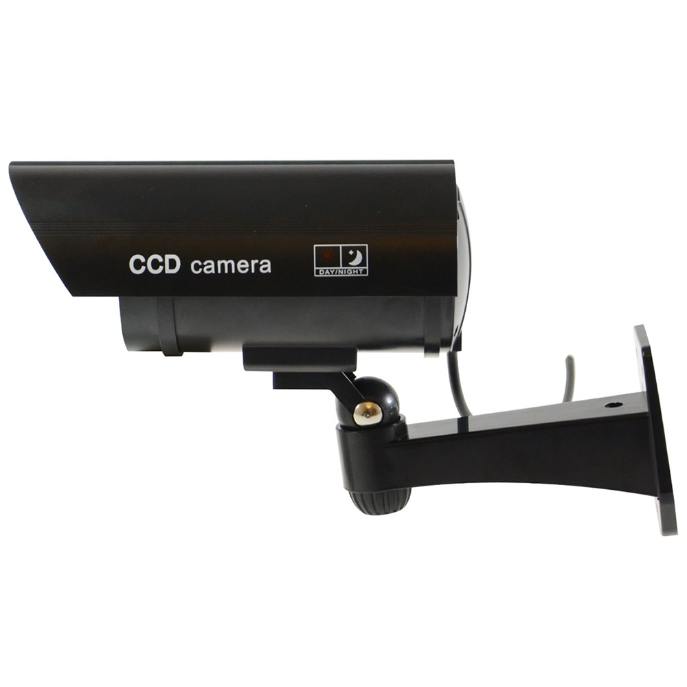 Deluxe Black Simulated Camera With Blinking L E D Light
