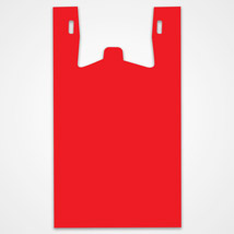 Red Plastic T-Shirt Bags - 11.5 in. x 7 in. x 21 in.
