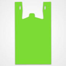 Bright Green Plastic T-shirt Bags