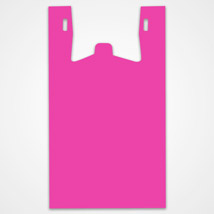 Pink Plastic T-Shirt Bags - 11.5 X 6 X 21.5 - Box Of 500