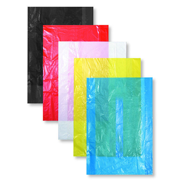 Red High Density Plastic Bag Without Handles