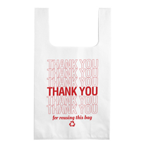 Eco-friendly Reusable Non-Woven Thank You T-shirt Bags - 100 per pack
