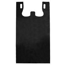 Black Plastic T-SHIRT Bag - 8 in. x 4 in. x 15 in.