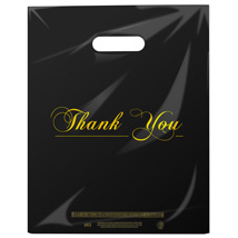 Low Density Plastic Thank You Bags- 12 x 15 - Box of 1000