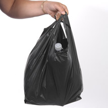 Black Heavyweight Plastic Bags - 12 x 7 x 21 - Box of 150