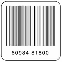 8.2 mhz UPC Deactivatable Security Labels -1.5 x 1.5 inch
