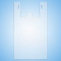 Frosted Clear Plastic T-Shirt Bags - 18.5 in. x 8 in. x 30 in.