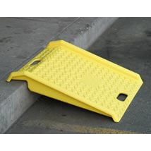 Portable Plastic Hand Truck Curb Ramp - Yellow