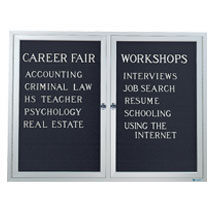 Indoor Enclosed Double Letterboard