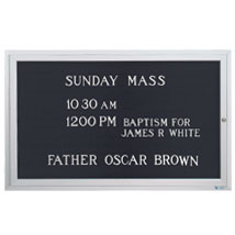 Outdoor Enclosed Letterboard