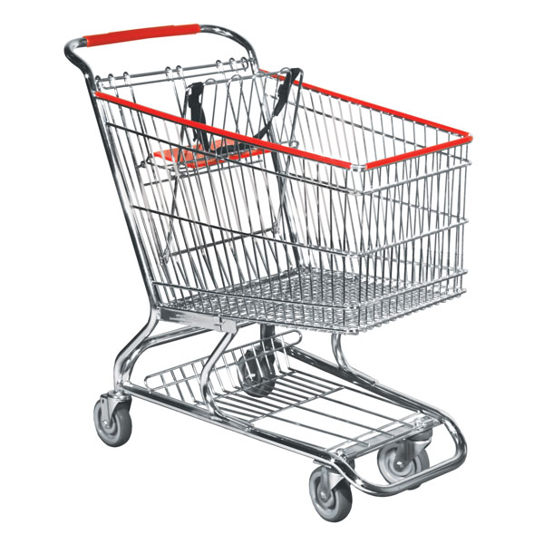 Metal Wire Grocery Shopping Cart - Standard Size