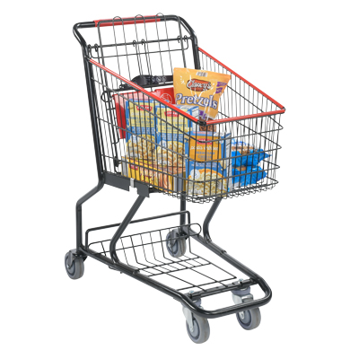 Black Wire Grocery Shopping Cart - Compact Size