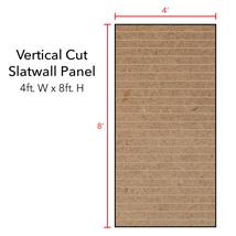 PAINT Grade Vertical Slatwall Panels - 8' H x 4' W