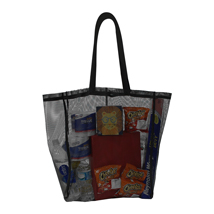 Black Mesh Reusable Shopping TOTE BAG