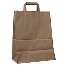 Recycled Flat Handle Kraft Bag