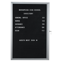 "Aluminum Frame Enclosed Letter Board - 24"" x 36"""