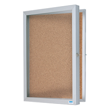 Aluminum Frame Enclosed Cork Bulletin Board