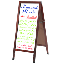 Cherry A Frame Sidewalk Sign With White Markerboard