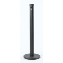 FLOOR STANDING CIGARETTE RECEPTACLE  WITH SATIN FINISH