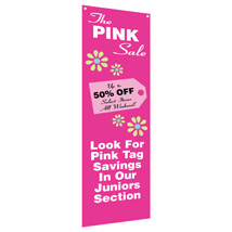 Custom Verticle Banner With Grommets - 24 In. W X 72 In. H