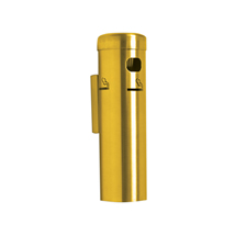 Wall Mounted CIGARETTE Receptacle - Satin Silver