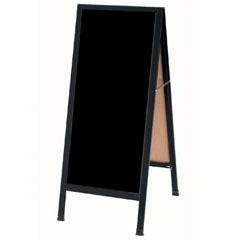 Black A-Frame Chalkboard Sidewalk Sign
