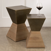 Hourglass Mix Material Table Set - Floor Standing Display Table