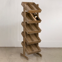 5-Tier Wooden Storage Bin Floor Display
