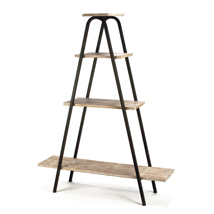 Metal Frame 4-Shelf Ladder Display Stand