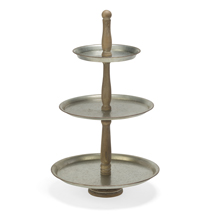 3-Tier Metal Round Tray Tabletop Display