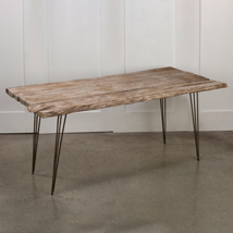 Large Rustic Weathered Wood Table