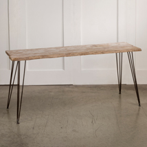 Rustic Weathered Wood Console Table
