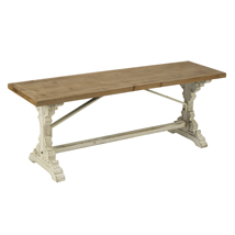 French Country Wood Bench - Display Table