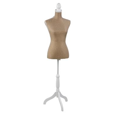 Jute Burlap Fabric Covered DRESS Form