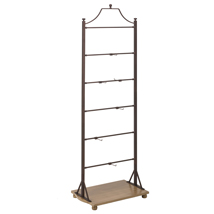 Bronze Metal Display Stand With Wood Base Shelf