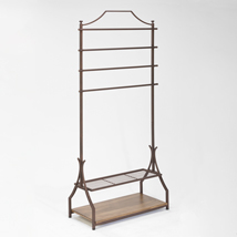 Bronze Clothing Rack With Bottom Shelves