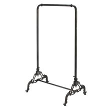 Industrial Black Metal Ballet Bar Clothing Rack
