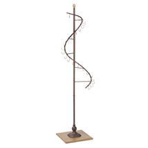 Bronze Rotating Spiral Floor Display Rack