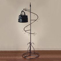 Brown Metal 15 Hook Spiral Floor Display