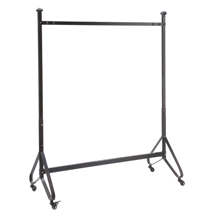 Black Industrial Clothing Rack With Casters