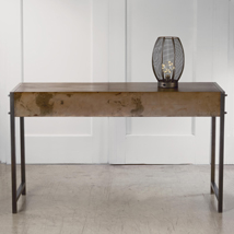 Antiqued Bronze Metal  Display Console Table
