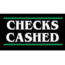 Cash Checked Neon Like Illuminated Sign