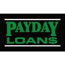Pay Day Loans Neon-Like Illuminated Sign