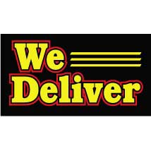 We Deliver Neon-Like Illuminated Sign