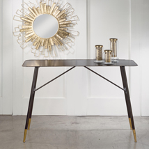 Black and Gold Metal Console Table