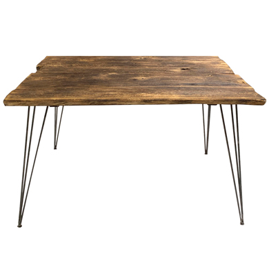 Small Rustic Weathered Wood Display Table