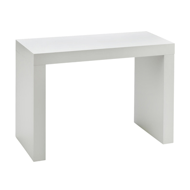 Small Modern White Display Table