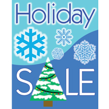 Holiday Poster-Blue With Tree