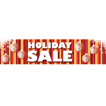 Holiday Sale Banner With Ornaments